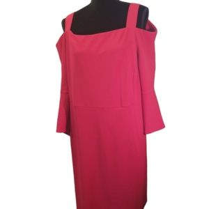 Catherines dress Size 22 cold shoulder red poly